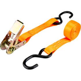 CAMPZ Ratchet Belt with Double S-Hook 2,5cm x 2m orange